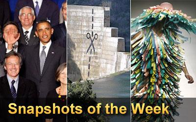 Snapshots - This weekly collection includes eye-catching images from around the world....