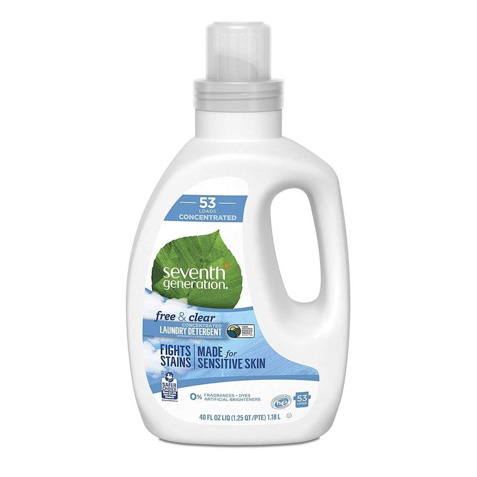 <p>The <span>Seventh Generation Concentrated Laundry Detergent</span> ($13) is hypoallergenic and made for sensitive skin.</p>