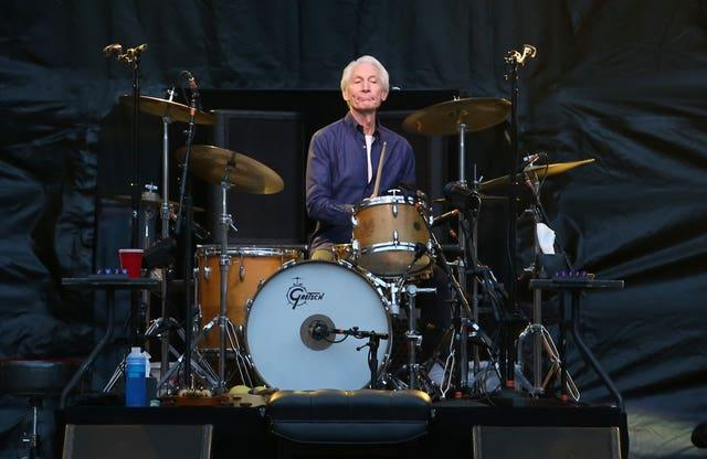Charlie Watts during a gig in 2018