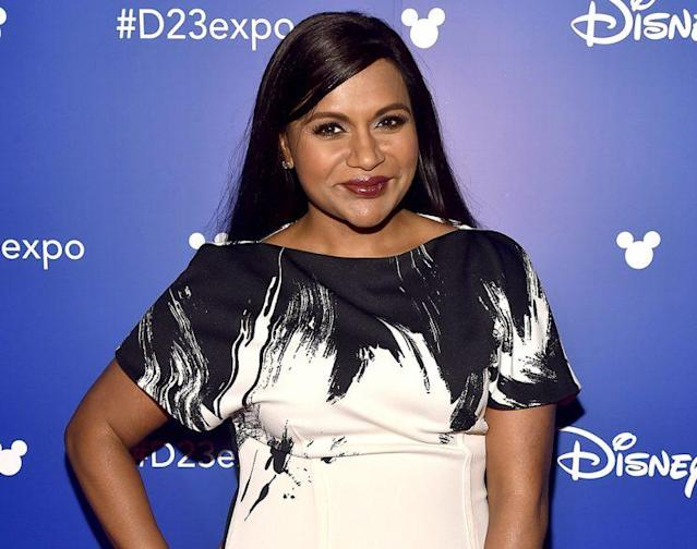 Mindy Kaling steps out for a promotional event on July 15, 2017. (Photo: Alberto E. Rodriguez/Getty Images for Disney)
