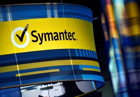 FILE PHOTO: The Symantec booth is seen during the 2016 Black Hat cyber-security conference in Las Vegas, Nevada, U.S. August 3, 2016.  REUTERS/David Becker/File Photo