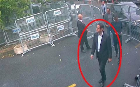 Maher Mutreb, a Saudi intelligence officer, was allegedly part of the squad that killed Mr Khashoggi - Credit: Sabah via AP