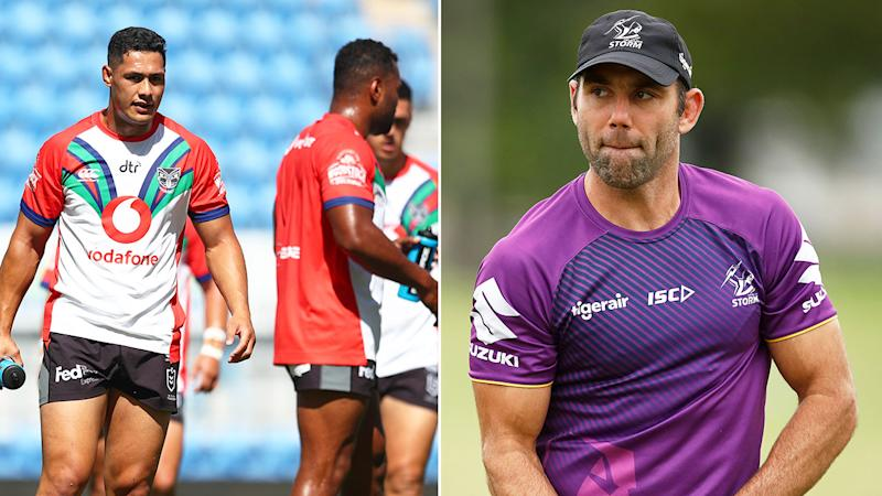 Pictured right, Cam Smith backs the Warriors' stance about wanting assurances from the NRL.