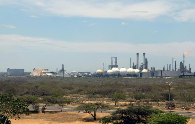 This handout file photo shows Amuay oil refinery, which the government says was attacked