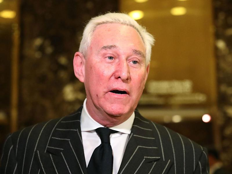 Roger Stone advised Donald Trump during his presidential campaign and reportedly remains 'a confidant to Trump': Spencer Platt/Getty Images