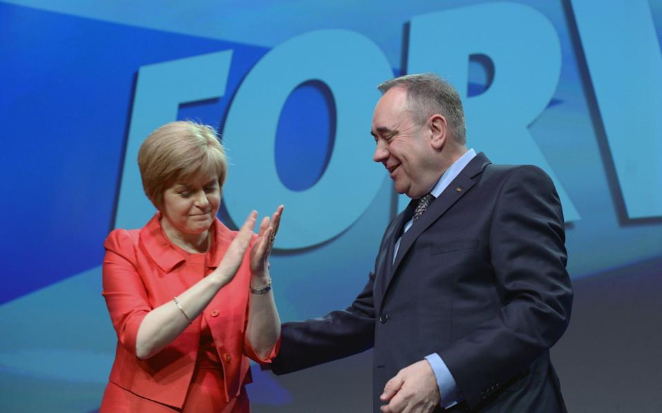 Alex Salmond has claimed there was a conspiracy at the top of the SNP to remove him from public life - Getty Images Europe