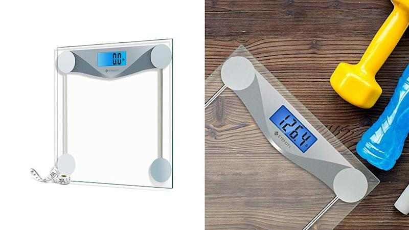 Track your fitness goal progress with this digital scale.