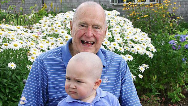 ht george hw bush patrick ll 130724 16x9 608 Bush 41 Shaves Head in Solidarity With 2 Year Old Leukemia Patient