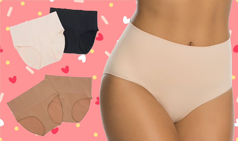 A single pair of SPANX underwear normally retails for $22, but you can get a set of two for just $26.50 today only at QVC! (Photo: Getty/QVC)