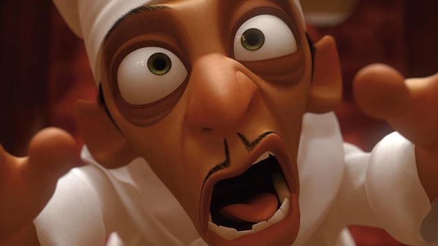 Ian Holm provided the voice of Skinner in 'Ratatouille'. (Credit: Pixar)