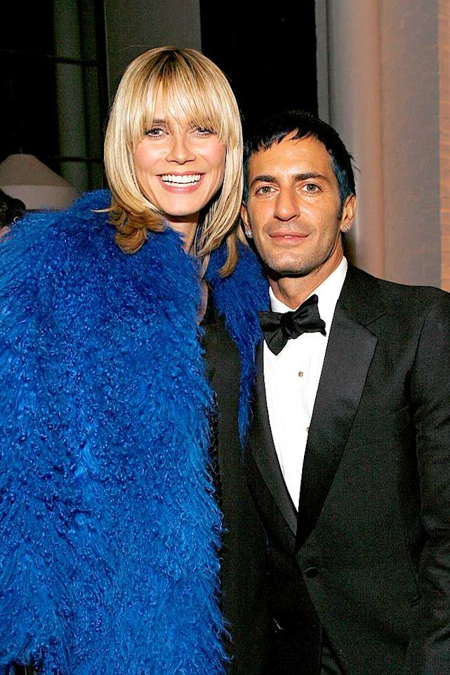 """Heidi Klum and Marc Jacobs attend the after party for the Cinema Society and W Magazine's special screening of """"Marc Jacobs & Louis Vuitton"""" at New York's famed Mercer Hotel. Mark Von Holden/<a href=""""http://www.wireimage.com"""" target=""""new"""">WireImage.com</a> - January 31, 2008"""
