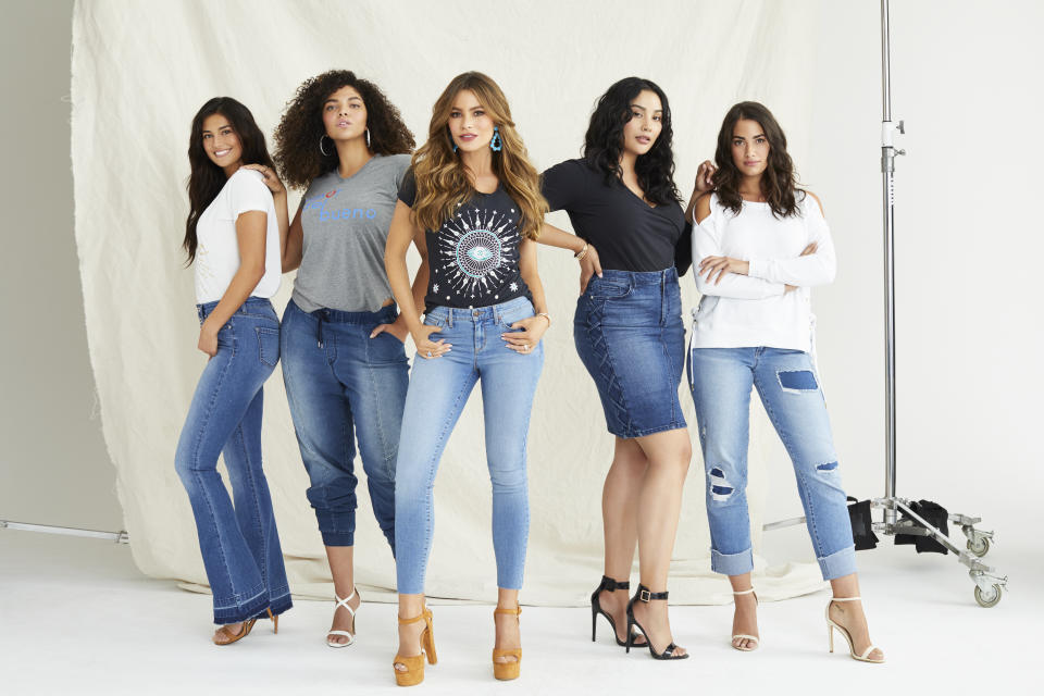 The Sofia Jeans by Sofia Vergara collection includes jeans, denim jackets and fashion-forward tops. (Photo: Courtesy of Walmart)
