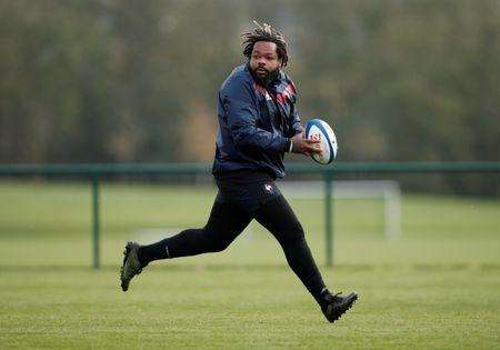 FILE PHOTO - Rugby Union - France Captains Run - National Rugby Center, Marcoussis, France - November 10, 2017 Mathieu Bastareaud of France during training REUTERS/Benoit Tessier