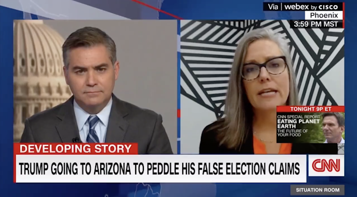 Arizona secretary of state Katie Hobbs says former president Donald Trump should 'move on' from his election loss (CNN)