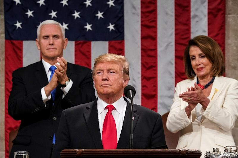 Delivering his State of the Union on Tuesday, Trump said the time and place was set: Vietnam on February 27 and 28 (AFP Photo/Doug Mills)