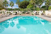 """<p><strong>How did it strike you on arrival?</strong><br> Estancia is located in the upscale coastal neighborhood of La Jolla, but closer to UC San Diego and <a href=""""https://www.cntraveler.com/activities/san-diego/torrey-pines-state-natural-reserve?mbid=synd_yahoo_rss"""" rel=""""nofollow noopener"""" target=""""_blank"""" data-ylk=""""slk:Torrey Pines State Natural Reserve"""" class=""""link rapid-noclick-resp"""">Torrey Pines State Natural Reserve</a> than the pedestrian-friendly Village. The hotel's hacienda-style buildings give it an Old World look—think terra-cotta hues, iron details, and wood finishes. Succulent-filled gardens are spread out across 10 acres, making it easy (and lovely) to get lost in them.</p> <p><strong>What's the crowd like?</strong><br> You'll see couples, families, people in town for conferences, and girlfriends on a getaway.</p> <p><strong>On to the big stuff: Tell us about the rooms.</strong><br> While the grounds are jaw-dropping, the rooms are somewhat underwhelming. They're outfitted with dated furniture that doesn't fit the charming Spanish Colonial vibe found elsewhere. Regular rooms are about 400 square feet and some have private balconies or patios. Suites are 640 square feet and feature outdoor space, a living area, and a soaking tub.</p> <p><strong>We're craving some deep, restorative sleep. They got us?</strong><br> If you need space, all rooms come with the option of a California King.</p> <p><strong>How about the little things, like mini bar, or shower goodies. Any of that worth a mention?</strong><br> The mini-fridges are empty, but housekeeping can stock them with snacks and drinks on request. Every room also has a Keurig machine.</p> <p><strong>Please tell us the bathroom won't let us down.</strong><br> The bathrooms are nothing to write home about, unless you're staying in a suite (where the bathrooms are enormous). But the hotel makes up for the lackluster bathrooms with wonderful bath products from Fresh.</p> <p><strong>Maybe the most important """