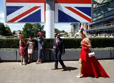 Horse Racing - Royal Ascot - Ascot Racecourse, Ascot, Britain - June 21, 2018 Racegoers before the start of the racing REUTERS/Peter Nicholls