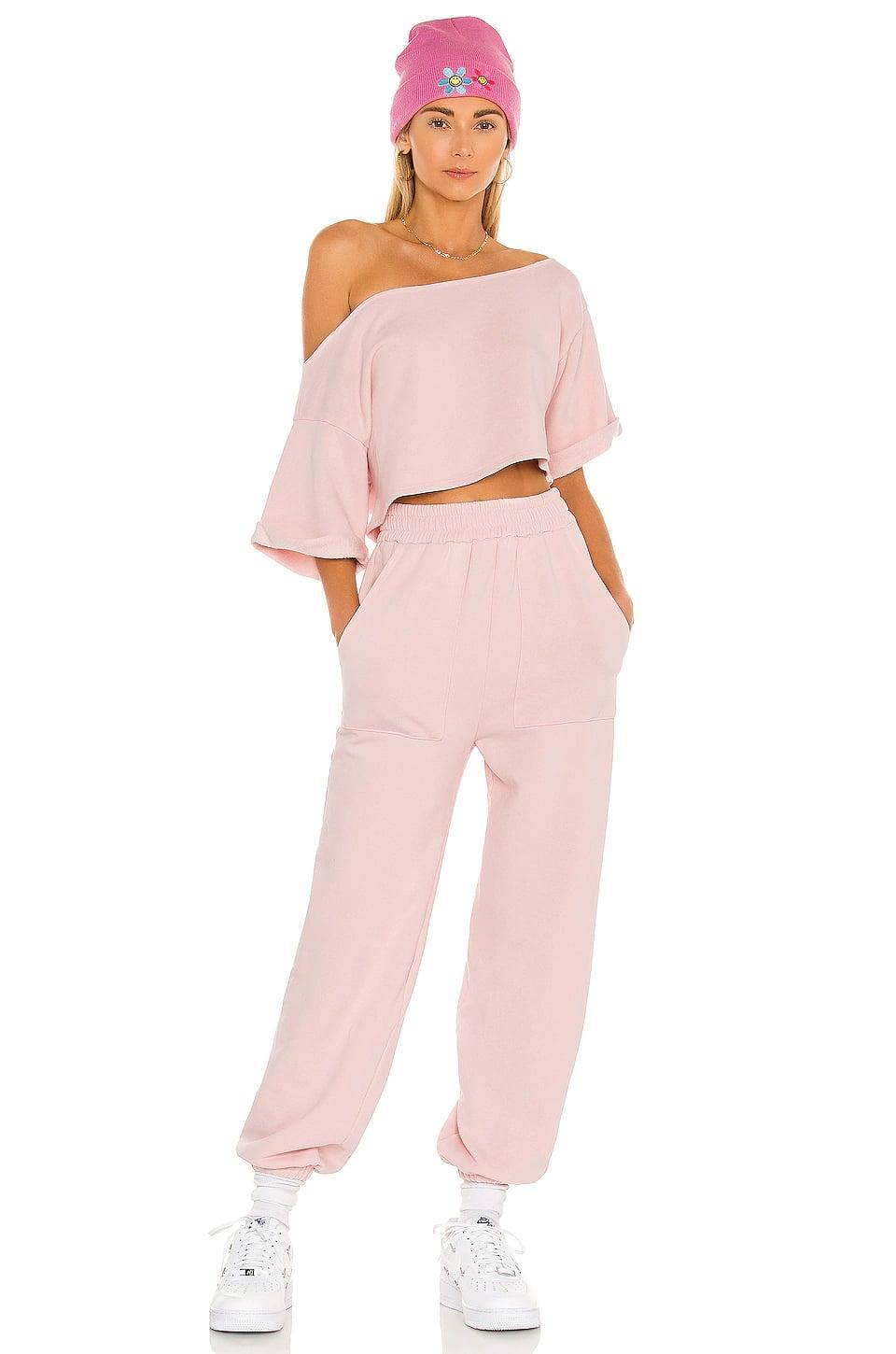 <p>This <span>Lovers + Friends Cropped Off Shoulder Top</span> ($118) and <span>Pocket Jogger</span> ($158) is a chic take on the sweatsuit.</p>