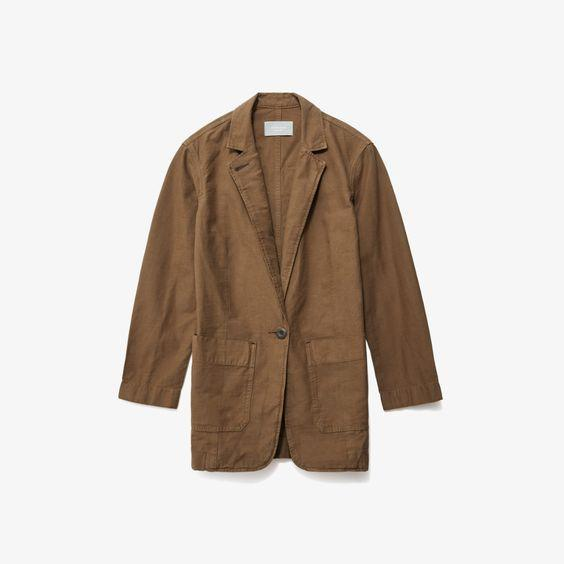 """Everybody needs a lightweight blazer in their lives (and closets!) $78, Everlane. <a href=""""https://www.everlane.com/products/womens-fatigue-blazer-walnut?collection=womens-sale"""" rel=""""nofollow noopener"""" target=""""_blank"""" data-ylk=""""slk:Get it now!"""" class=""""link rapid-noclick-resp"""">Get it now!</a>"""
