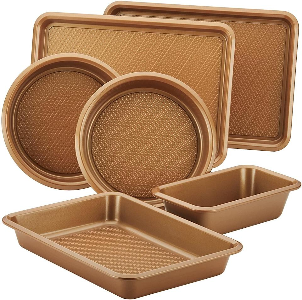 <p><span>Ayesha Curry Nonstick Bakeware Set With Nonstick Cookie Sheet</span> ($35, originally $50)</p>