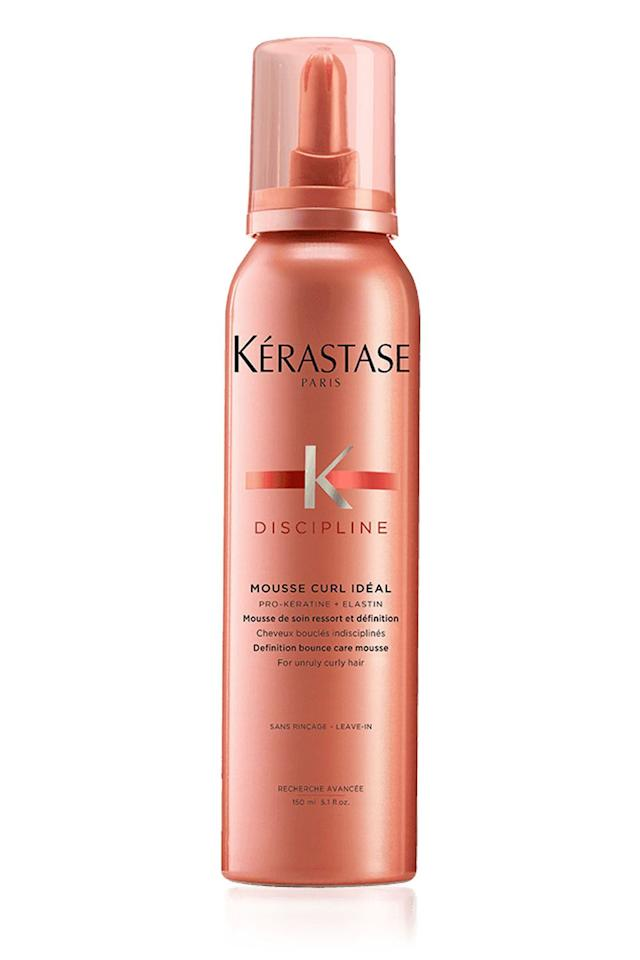 "<p><strong>Kérastase</strong></p><p>sephora.com</p><p><strong>$37.00</strong></p><p><a href=""https://www.sephora.com/product/discipline-mousse-for-curly-hair-P434421"" target=""_blank"">Shop Now</a></p><p>Those tiny, wispy hairs that just. won't. lie. down. can be annoying as hell to deal with. Your savior? This mousse, which contains a pro-keratin complex that <strong>helps smooth the surface of your hair to stave off flyaways and <a href=""https://www.cosmopolitan.com/style-beauty/beauty/a33187/how-to-defrizz-your-hair/"" target=""_blank"">frizz</a> </strong>during the day.</p>"