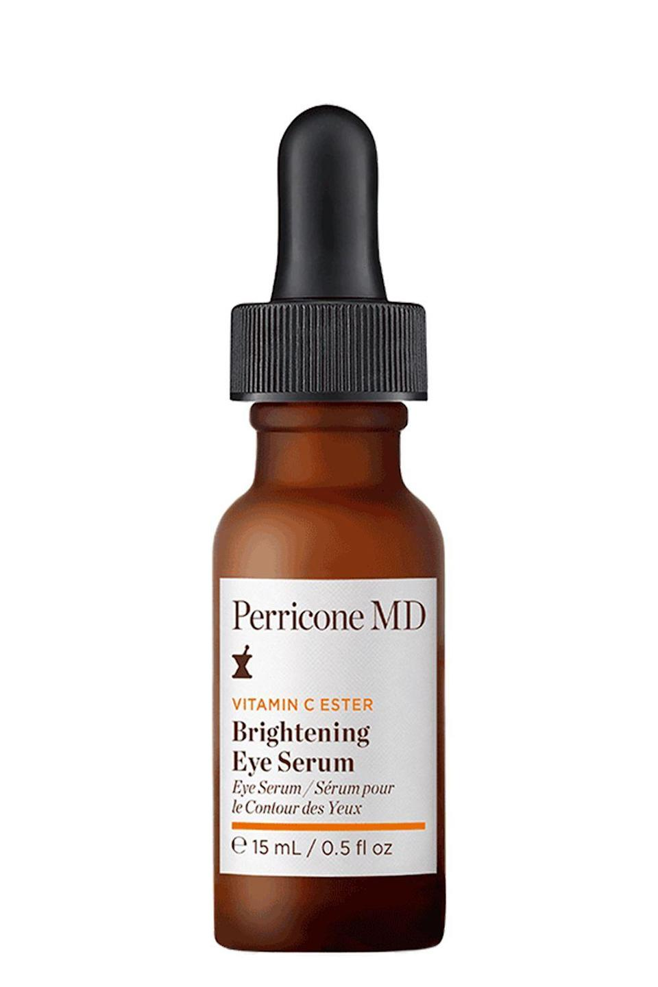 "<p><strong>Perricone MD</strong></p><p>ulta.com</p><p><strong>$60.00</strong></p><p><a href=""https://go.redirectingat.com?id=74968X1596630&url=https%3A%2F%2Fwww.ulta.com%2Fvitamin-c-ester-brightening-eye-serum%3FproductId%3DxlsImpprod19011043&sref=https%3A%2F%2Fwww.cosmopolitan.com%2Fstyle-beauty%2Fbeauty%2Fg12091058%2Fbest-vitamin-c-serum-face-skin%2F"" rel=""nofollow noopener"" target=""_blank"" data-ylk=""slk:Shop Now"" class=""link rapid-noclick-resp"">Shop Now</a></p><p>Those <a href=""https://www.cosmopolitan.com/style-beauty/beauty/g21990502/dark-circles-under-eye-treatment-creams/"" rel=""nofollow noopener"" target=""_blank"" data-ylk=""slk:dark circles"" class=""link rapid-noclick-resp"">dark circles</a> under your eyes? Help lessen their appearance with this vitamin C eye serum. With continued use, it'll <strong>brighten and thicken the skin under your eye</strong><strong>s</strong> (vitamin C boosts collagen), which will make the blue-ish blood vessels underneath your skin (i.e., your dark circles) less visible.</p>"