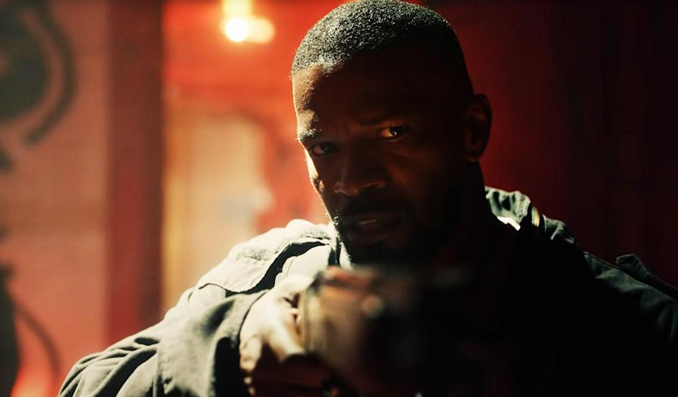 """<p>There's a pill being sold in the streets of New Orleans that gives temporary but dangerous superpowers to whoever takes it. A retired soldier, a teenager, and a police officer work together to find the source. </p> <p><a href=""""https://www.netflix.com/title/80204465"""" class=""""link rapid-noclick-resp"""" rel=""""nofollow noopener"""" target=""""_blank"""" data-ylk=""""slk:Watch Project Power on Netflix now."""">Watch <strong>Project Power</strong> on Netflix now.</a></p>"""