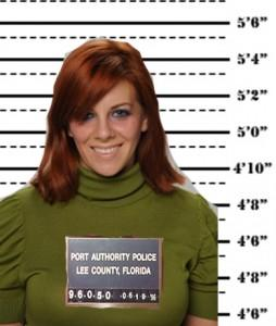 Mugshot from prison