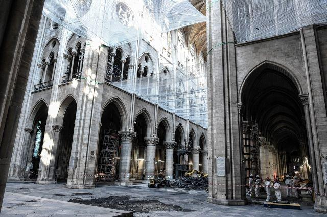 Inside Notre-Dame: rubble, emptiness and an immense task ahead