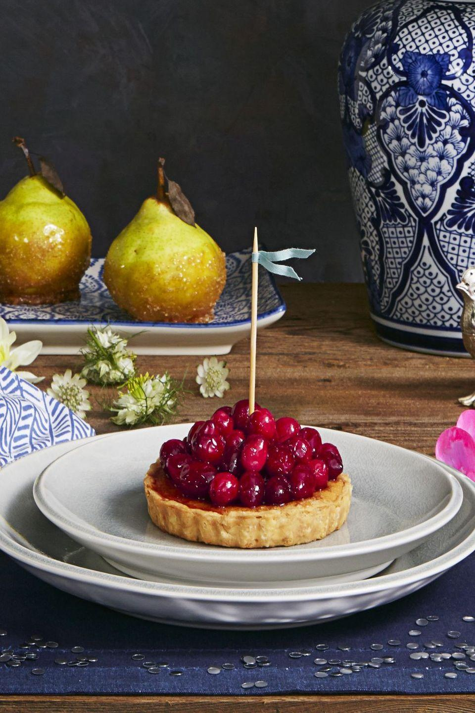 "<p>Take a slice out of our playbook and serve guests individual tarts rather than deal with the hassle of divvying up one big pie.</p><p><em><a href=""https://www.goodhousekeeping.com/food-recipes/dessert/a35186/cranberry-frangipane-tarts/"" rel=""nofollow noopener"" target=""_blank"" data-ylk=""slk:Get the recipe for Cranberry Frangipane Tarts »"" class=""link rapid-noclick-resp"">Get the recipe for Cranberry Frangipane Tarts »</a></em></p><p><strong>RELATED: </strong><a href=""https://www.goodhousekeeping.com/holidays/thanksgiving-ideas/g22854655/cranberry-recipes/"" rel=""nofollow noopener"" target=""_blank"" data-ylk=""slk:25 Sweet and Savory Cranberry Recipes That Go Beyond the Sauce"" class=""link rapid-noclick-resp"">25 Sweet and Savory Cranberry Recipes That Go Beyond the Sauce </a></p>"