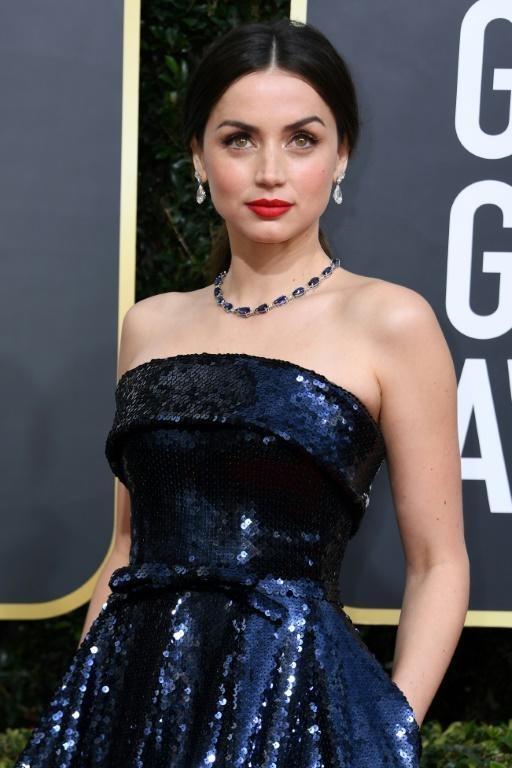 Cuban actress Ana De Armas has been regularly snapped accompanying Ben Affleck on walks in Los Angeles (AFP Photo/VALERIE MACON)