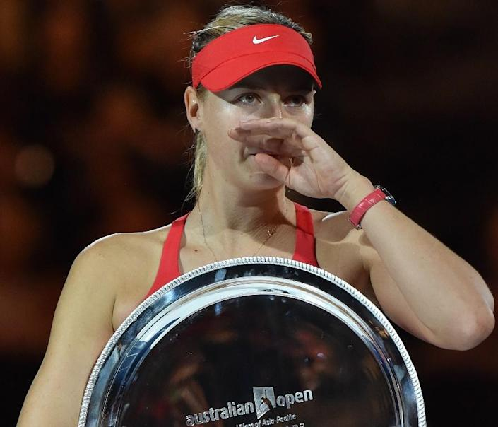 Despite being number two in the world, Maria Sharapova just cannot beat Serena Williams, with her winless streak going back a decade. AFP Photo / Paul Crook (AFP Photo/)