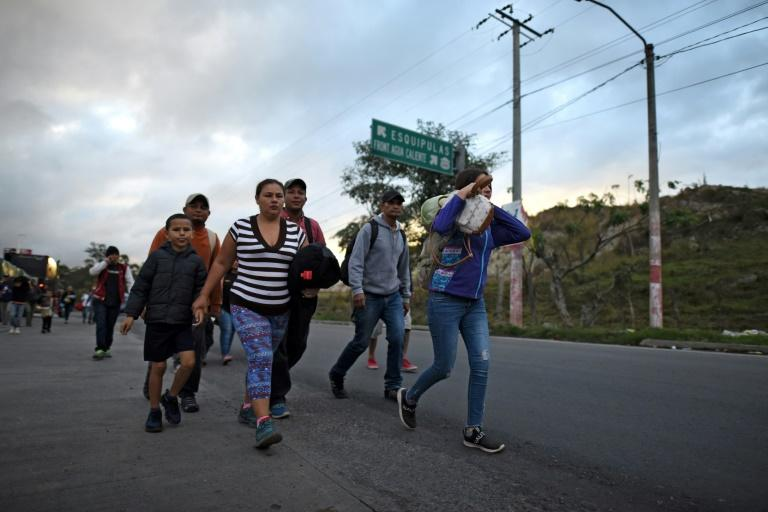 Central American migrants first started forming caravans heading to the US at the end of 2018