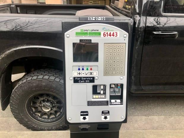 New pay stations, like the one seen in this photo in downtown Vancouver, are currently being installed to replace older coin meters. According to city staff, the new machines are harder for vandals to tamper with and will give customers more payment options.