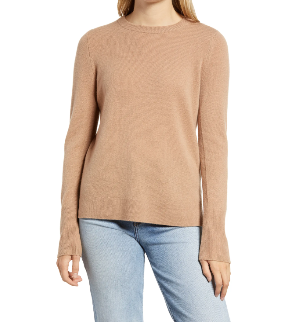 Crewneck Cashmere Sweater is on sale now during the Nordstrom Made sale.