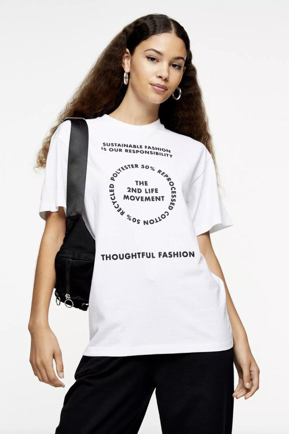 <p>This <span>2nd Life Motif T-Shirt</span> ($21, originally $30) promotes slow fashion and conscious consumption, which is a movement we can all get behind.</p>