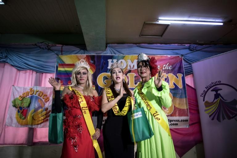 The winners of the Golden Gays of Manila Beauty Pageant in Manila