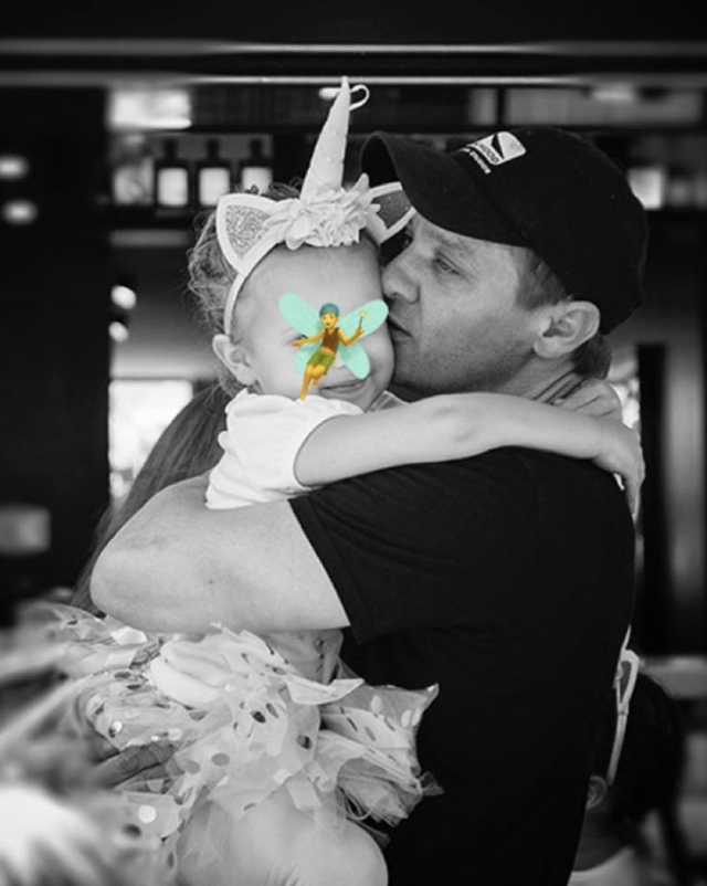 "<p>The <em>Avengers</em> star wished his ""little miss"" — daughter, Ava — a very happy birthday with a this sweet pic. ""5 years ago, my life began,"" the proud papa wrote. (Photo: <a href=""https://www.instagram.com/p/Bg4icBbBpNa/?taken-by=renner4real"" rel=""nofollow noopener"" target=""_blank"" data-ylk=""slk:Jeremy Renner via Instagram"" class=""link rapid-noclick-resp"">Jeremy Renner via Instagram</a>) </p>"