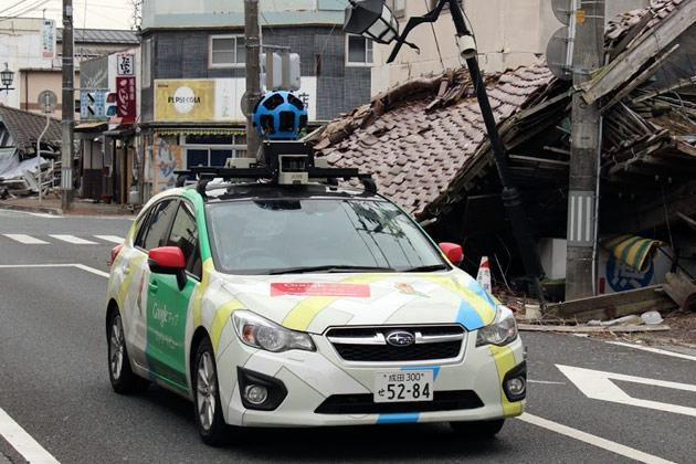 Google began offering the chance for people to wander virtually through an abandoned town deep within the exclusion zone around Japan's crippled nuclear plant.