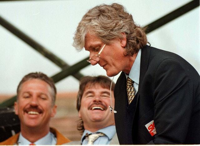 Bob Willis, right, was a successful cricketer for England before he transitioned into the media side of the game