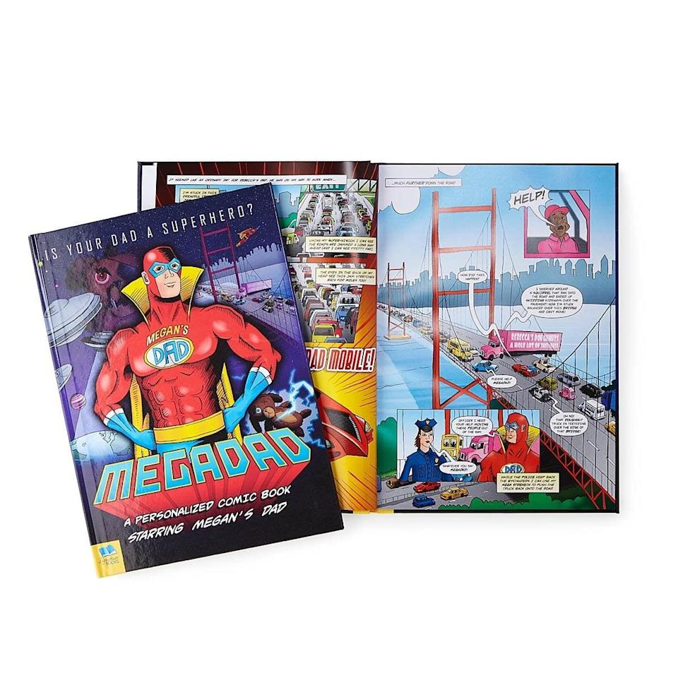 <p>If your dad is your superhero, let him know with this is creative <span>Mega Dad Personalized Comic Book</span> ($35). It's a great gift for dad's who love all things comics!</p>