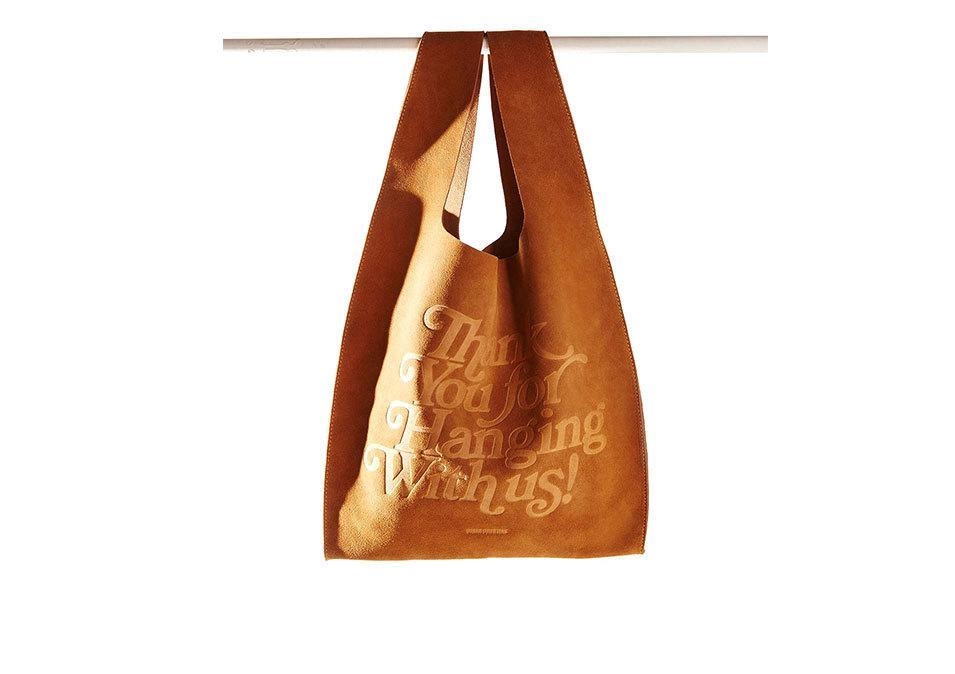 """<p>Urban Outfitters OU suede thank you bag, $69, <a href=""""http://www.urbanoutfitters.com/urban/catalog/productdetail.jsp?id=37595014&category=W_ACC_BAGS"""" rel=""""nofollow noopener"""" target=""""_blank"""" data-ylk=""""slk:urbanoutfitters"""" class=""""link rapid-noclick-resp"""">urbanoutfitters</a></p>"""