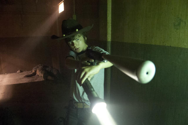 "Carl Grimes (Chandler Riggs) in ""The Walking Dead"" episode, ""Made to Suffer."""