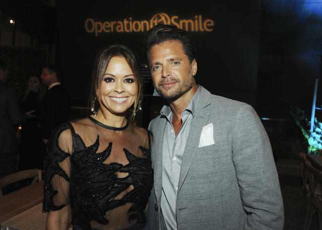 Brooke Burke-Charvet and David Charvet, seen here at the Operation Smile's Annual Smile Gala in September, are divorcing. (Photo: Amy Graves/Wireimage)