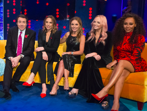 Jonathan Ross with the Spice Girls