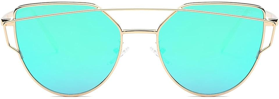 <p>These <span>SOJOS Cat Eye Sunglasses</span> ($14) come in a wide variety of colors including rose gold, lavender, silver, black and more.</p>