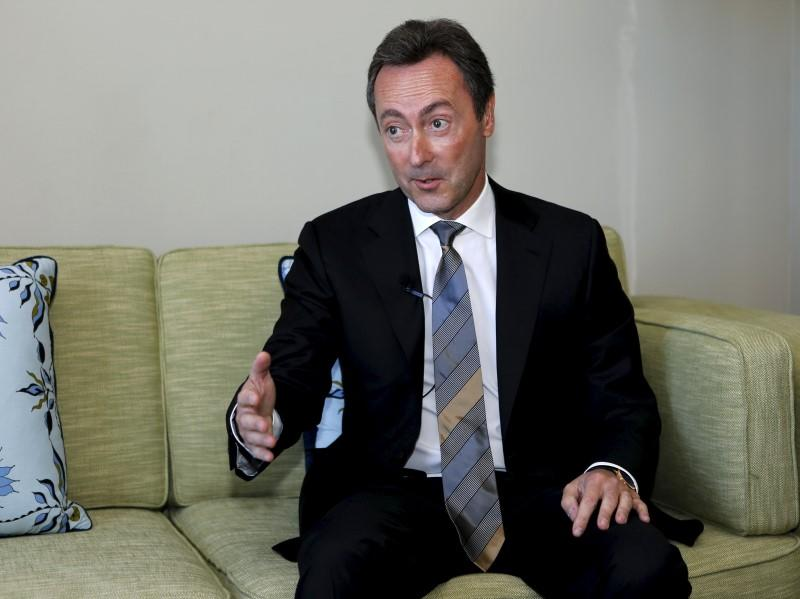 Fabrice Bregier, President and CEO of Airbus S.A.S. speaks with Reuters during an interview at the 2015 International Air Transport Association Annual General Meeting and World Air Transport Summit in Miami Beach