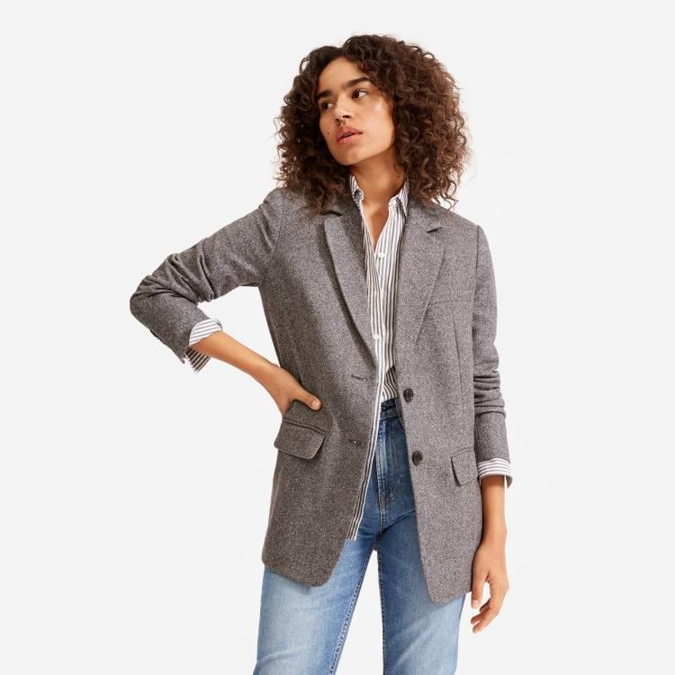 "<br><br><strong>Everlane</strong> The Oversized Blazer, $, available at <a href=""https://go.skimresources.com/?id=30283X879131&url=https%3A%2F%2Ffave.co%2F3kwlK4J"" rel=""nofollow noopener"" target=""_blank"" data-ylk=""slk:Everlane"" class=""link rapid-noclick-resp"">Everlane</a>"