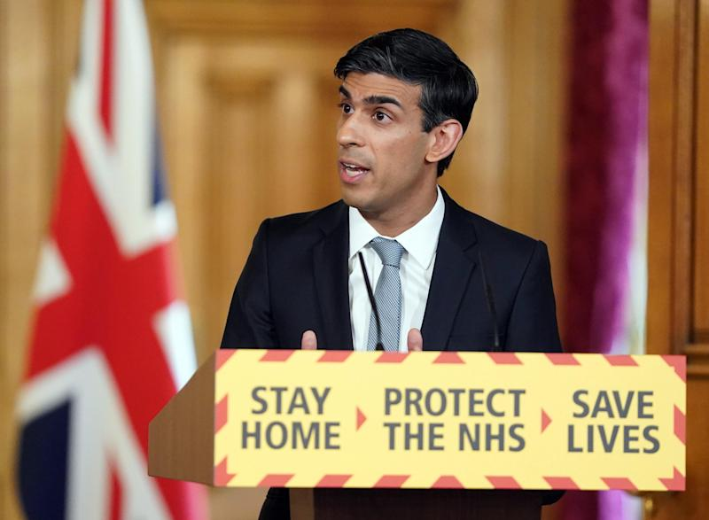 Handout file photo dated 20/04/20 issued by 10 Downing Street of Chancellor Rishi Sunak. More than one million people have fallen through the cracks of the Government�s support schemes designed to keep them afloat during the coronavirus crisis, MPs have warned.