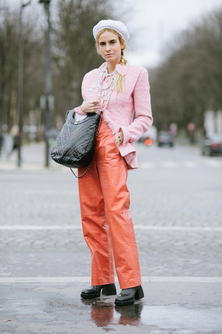 <p>Blanca Miro arrives at the Chanel February 2019 show decked in the French brand – a tribute to the late Karl Lagerfeld. <em>[Photo: Getty]</em> </p>